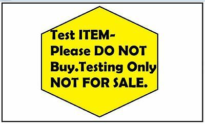 Test Listing -1 Not For Sale
