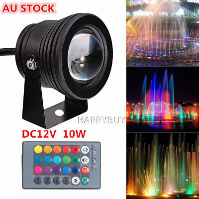 1/4/6X Spot Light Outdoor Garden Lamp16 Colors RGB 12V Waterproof IR Remote 10W