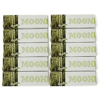 "10×50 sheets MOON New Arrival 70mm 1.0"" Green Hemp Cigarette Rolling Papers"