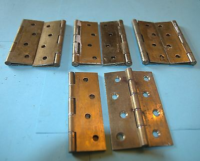 Set of  two brass hinges 4 ins x 1 1/2 ins-6 available
