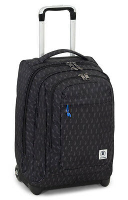Wheeled Backpack Trolley INVICTA Extra Bump Black Chilli