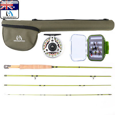 Maxcatch 3wt Fly Fishing Rod Combo, Rod, Pre-Spooled Reel, Box and Flies Outfit