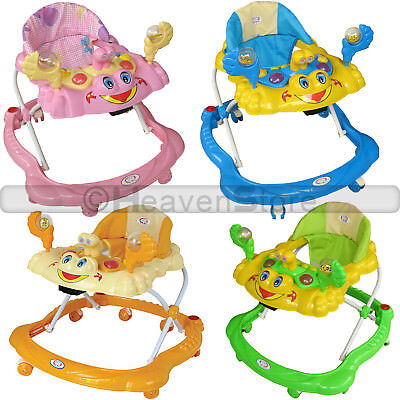 Baby Walker pink Activity First Steps Musical Toy Learning Children Walking Tool