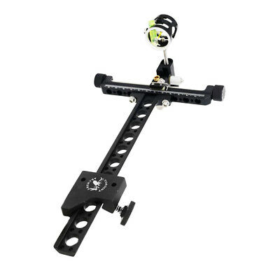 1-Pin CNC 4x Compound Bow Sight with Micro Adjustable Pole Archery Accessory