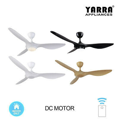52 inch 132CM 3 Blade DC Ceiling Fan with Light and Remote Indoor 3 Colours