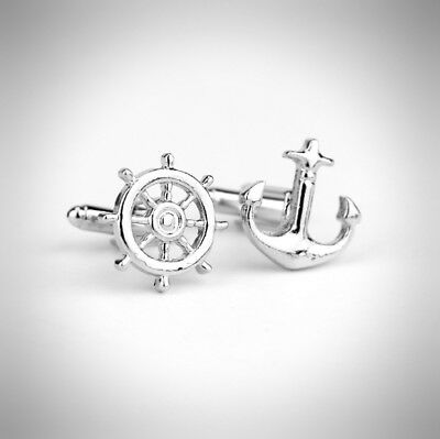 Nautical Driftwood Anchor sailing Cufflinks With Gift Box /& Shipped From The UK