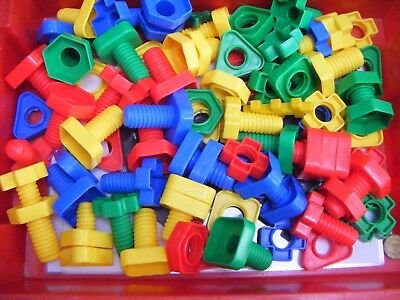 Jumbo Nuts and Bolts Set  Occupational Therapy - Maths Fine Motor Preschool EYFS