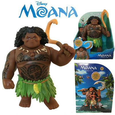 Disney Moana Singing Maui & Fishhook Movie Action Figures Doll Toy Model Kid