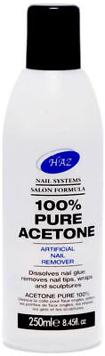 100 % Pure  Haz Acetone Acrylic Nail Tips & Glue Remover, Nail Polish Remover,