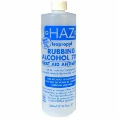 Haz Rubbing Alcohol 70% FIRST AID ANTISEPTIC 500ml