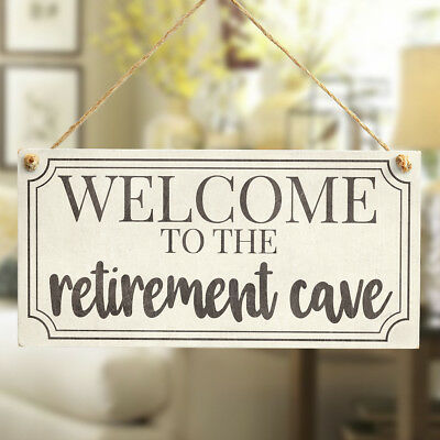 WELCOME TO THE retirement cave Sign Gift Man Cave, Den, Family Room, Boys Room
