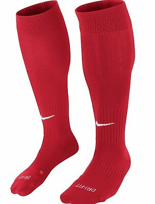 NIKE CLASSIC 11 CUSHIONED DRI-FIT  FOOTBALL SOCKS UNIVERSITY RED or NAVY