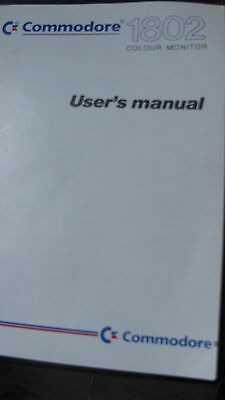 1 Stk.COMMODORE 1802  USER`s MANUAL