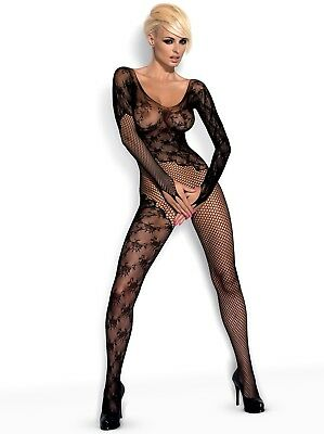 F210 bodystocking combinaison noire intriguant sexy - Obsessive