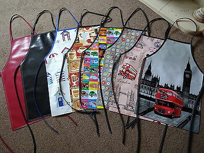 Pvc Aprons 5 Sizes Adult And Childs Retro  Sights Paisley And Plain  Waterproof