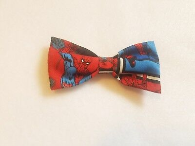 Spiderman bow tie w/ clip-on as attachment for kids toddler baby FAST SHIPPING!