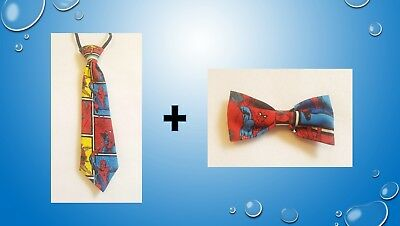 Spiderman tie AND bow tie for kids toddler baby FAST SHIPPING!