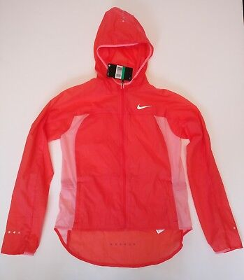 Nike Girls Impossibly Light Running Jacket Kids Red Pink Extra Large 845590852