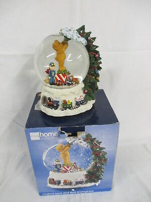 JC Penney Home Collection Musical Bear and Stars Snowglobe (Christmas) 2004