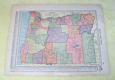 OLD Map Oregon & 1/2 Washington State Atlas of The World Color 13 1/4 x 10 1/4
