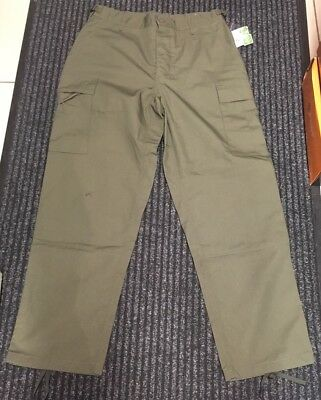 New Men's Olive Green M-65 Style BDU Ripstop Combat Work Trousers