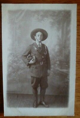 Real Photo named Scout H Tomlinson postcard Wolverhampton Staffs