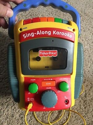 Fisher Price Microphone Sing A Long Karaoke Cassette Tape Recorder Player 2001