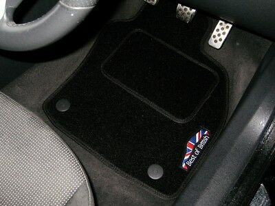 Best Of British Black Car Mats To Fit MG ZT-T (2001-2005) + Logos