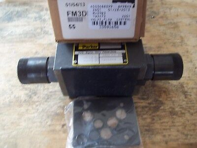 New In Box Parker Fm3Ddkn 55 Flow Control Valve