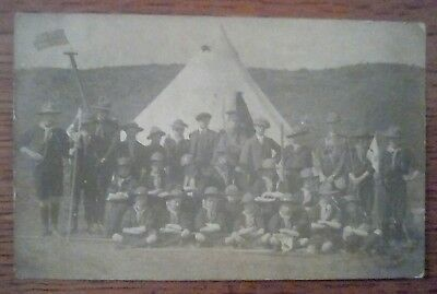 Real Photo postcard Wednesfield Scout Troop 1915