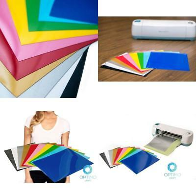 Heat Transfer Vinyl Sheets 10 Color Bundle Pack Multicolor Vinyl Iron On Shirts