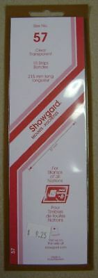 Showgard size 57 clear hingeless stamp mount NEW unopened pack 1st quality 215mm