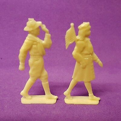 Vintage CRACKER JACK/Nosco 1950s SCOUT Boy (boyscout) Girl (girlscout) figures
