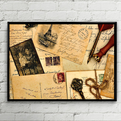 OLD VINTAGE POSTCARD POSTER HOME ART  Sizes A3 A4
