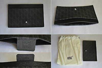 """""""New"""" Montblanc Signature Flight Leather Business Bank Credit Card Holder Wallet"""