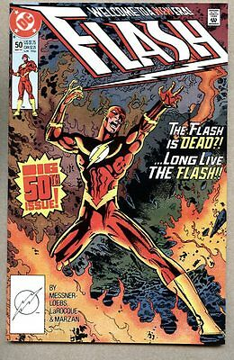 Flash #50-1991 vf Giant-Size Vandal Savage 1st Lady Flash