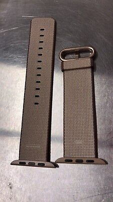 Apple - Woven Nylon for Apple Watch 42mm - Toasted Coffee/Caramel MNKE2AM/A