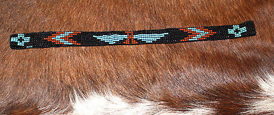 Western Vintage Beaded Hatband Stretch Multi Cowboy Rodeo Hat Band Jeans  Dress C 72e2746e982c