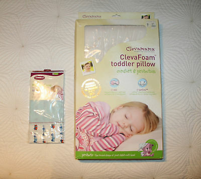 ClevaMama Toddler Clever Foam Pillow & Blue Pillowcase