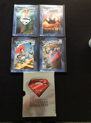 The Complete Superman Collection DVD Video CDs Box Of 4 Super Hero Movie Set WB