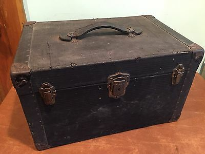 Antique Cloth Covered Wooden Hat Box Travel Trunk John Wanamaker New York
