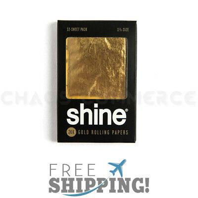 Shine 12 Sheet Pack 24k Rolling Papers 1 1/4""