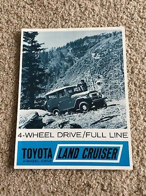 1964 Toyota Land cruiser 4-wheel drive original dealership sales handout