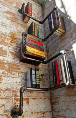 Industrial Vintage Style, Funky Wall Mounted Book Shelf / Shelves / Bookcase!!