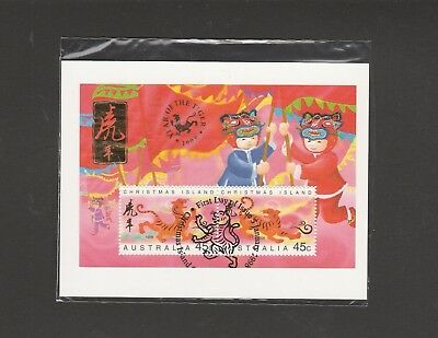 "Christmas Island.1998 ""Year of the Tiger.""Mini Sheet 2 x 45c. Stamps Mini Sheet"