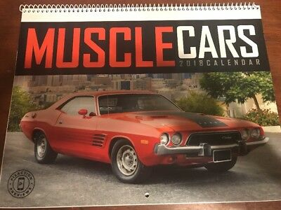 2018 Calendar Muscle Cars - Coil Bound