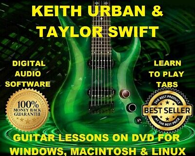 Keith Urban 181 & Taylor Swift 316 Guitar Tabs Software Lesson CD & 106 BTs