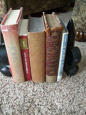 Lot of 5 Popes books some Saints Pope John Paul 2, John 23rd, Leo 13th etc.