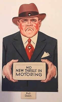 Mint Condition Studebaker Paper Advertising -Pull Tab Mouth Moves