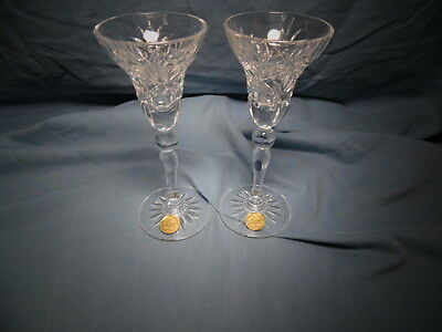 Cristal d'Arques-France- LOT of 2-Candlestick Holder